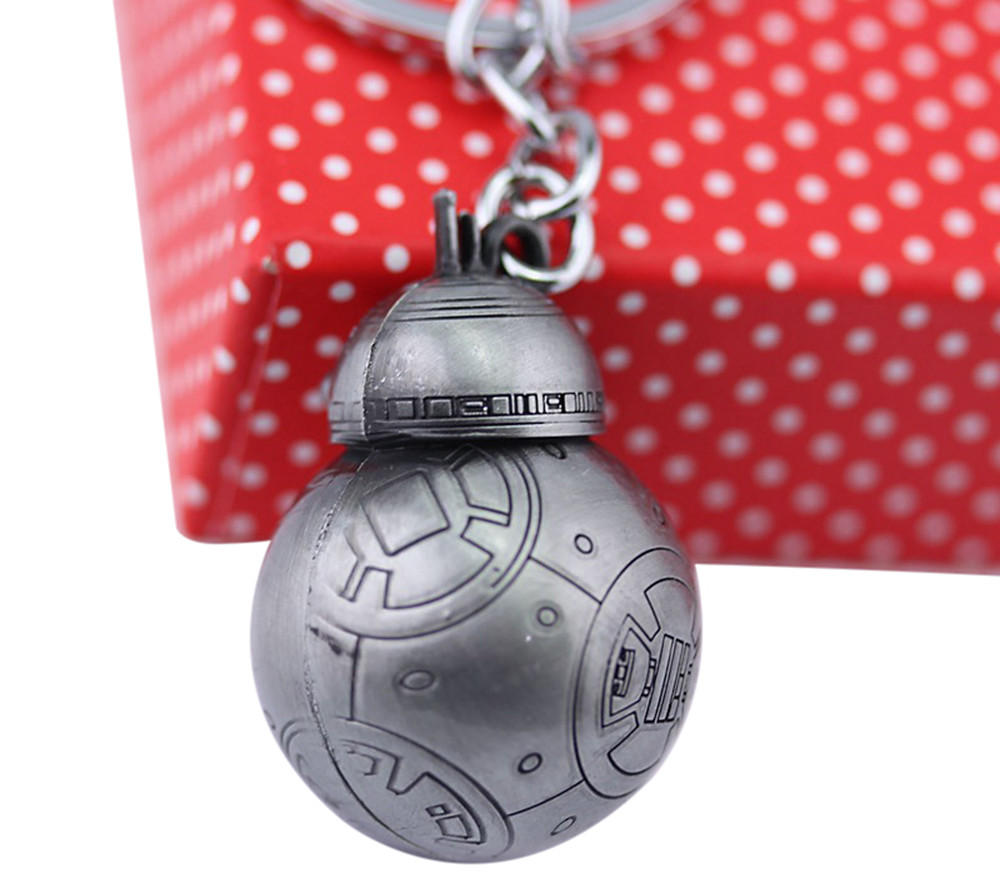 BB - 8 Portable Robot Shape Key Chain Zinc Alloy Pendant for Bag Decoration