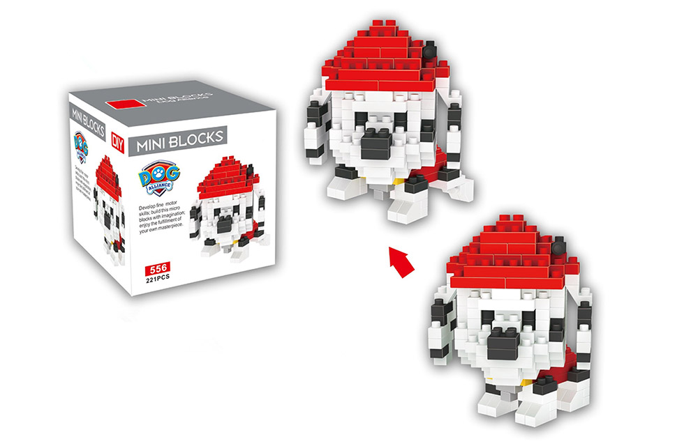 LOZ ABS 221Pcs Dog Style Building Block Educational Toy Birthday Present