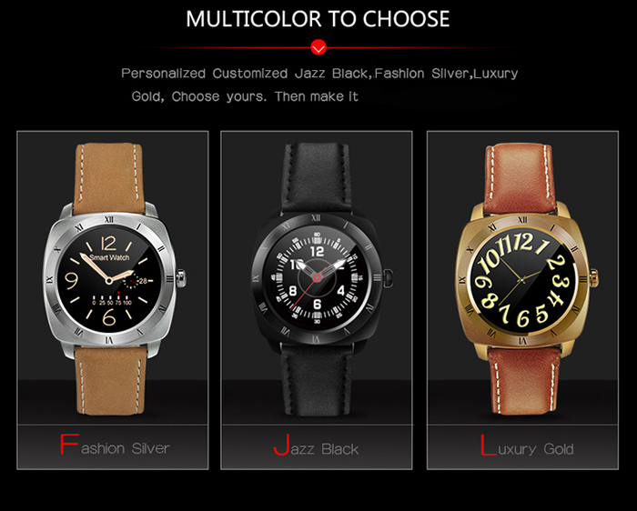 DM88 Bluetooth 3.0 / 4.0 Smart Watch with TFT Capacitive Touch Screen