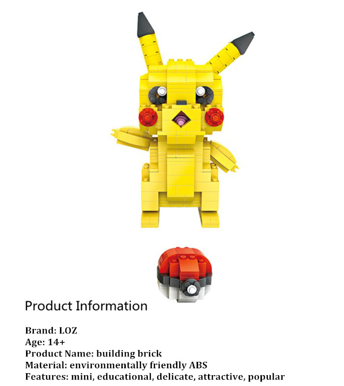 LOZ Cartoon Figure Building Block ABS Film éducatif Film Kid Toy - 438pcs
