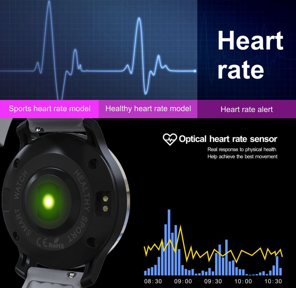 F69 Bluetooth 4.0 Smart Sports Swimming Watch with Heart Rate Function