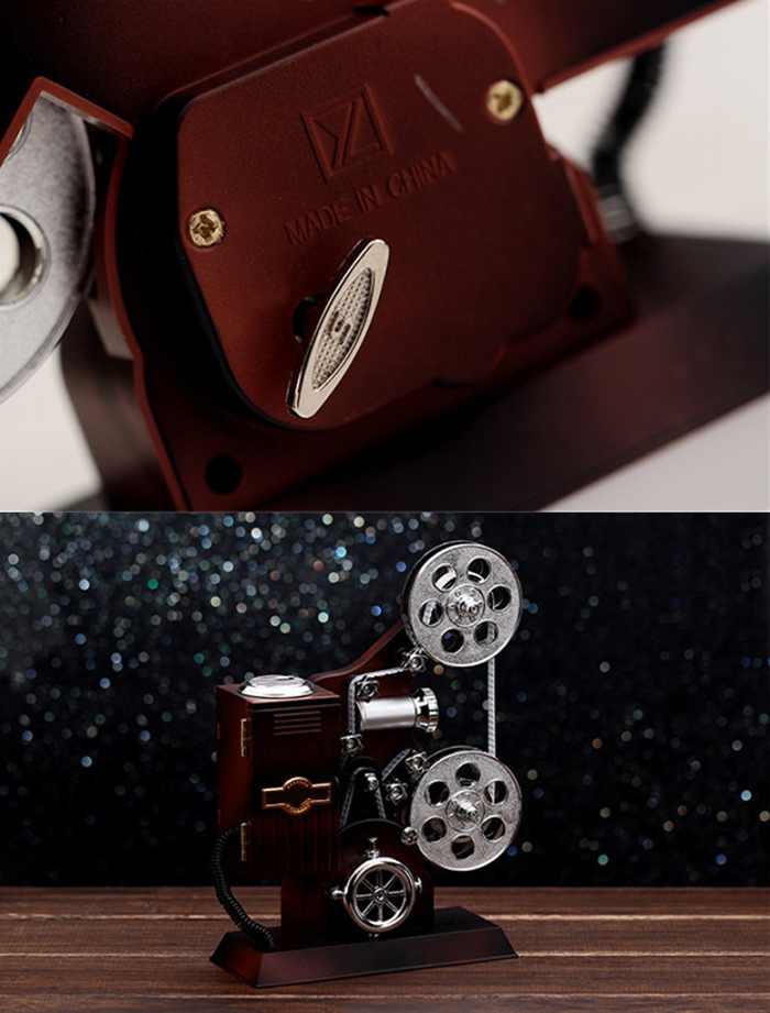 Clockwork Movie Projector Music Box with Mirror  for Your Friend