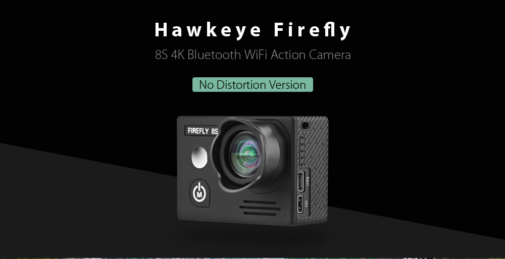 HawKeye Firefly 8S 4K Bluetooth WiFi Action Sports Camera with 90 Degree FOV Ambarella A12S75 Chipset