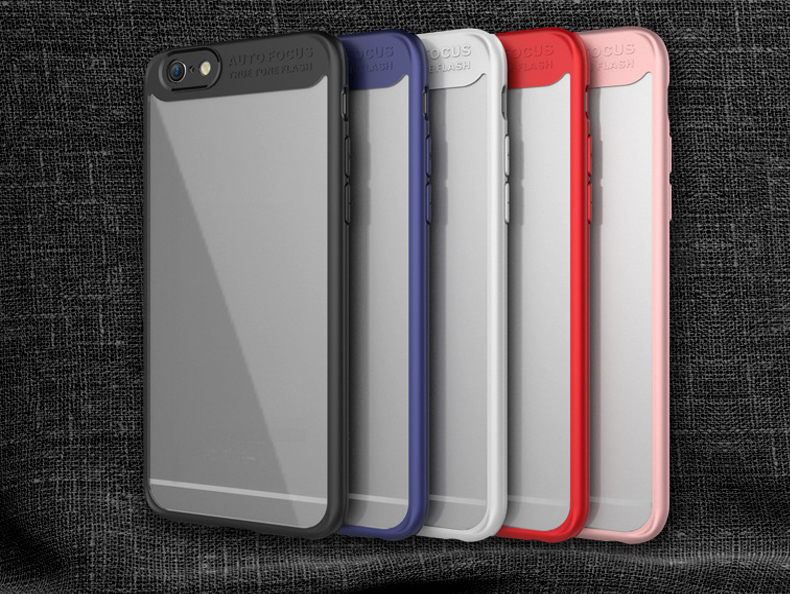 200c6ee974b Funda Transparente de PC de TPU de Silicona para iPhone 6 Plus iphone 6S  Plus