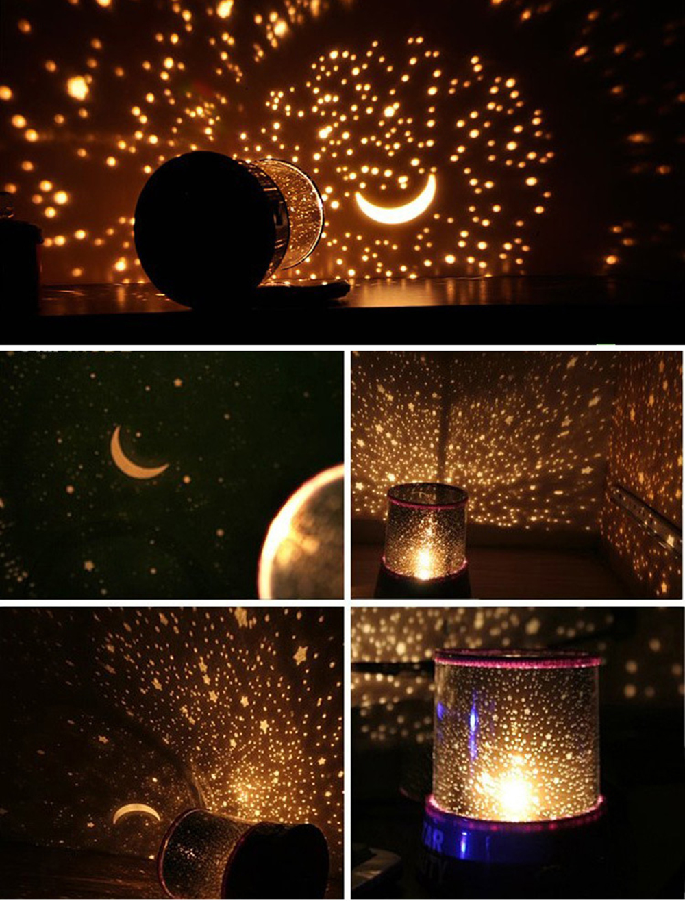 Brelong color starry led light sky star lampe pour no l for Lampe projection noel