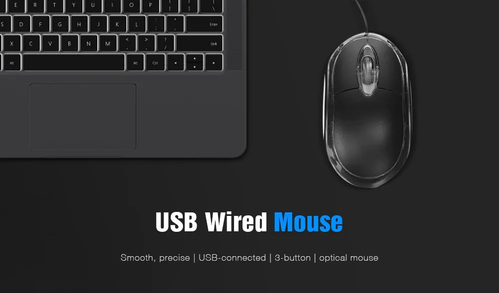 Shop 3-button USB 800 Dpi Optical Wired Mouse Online from Best Mice