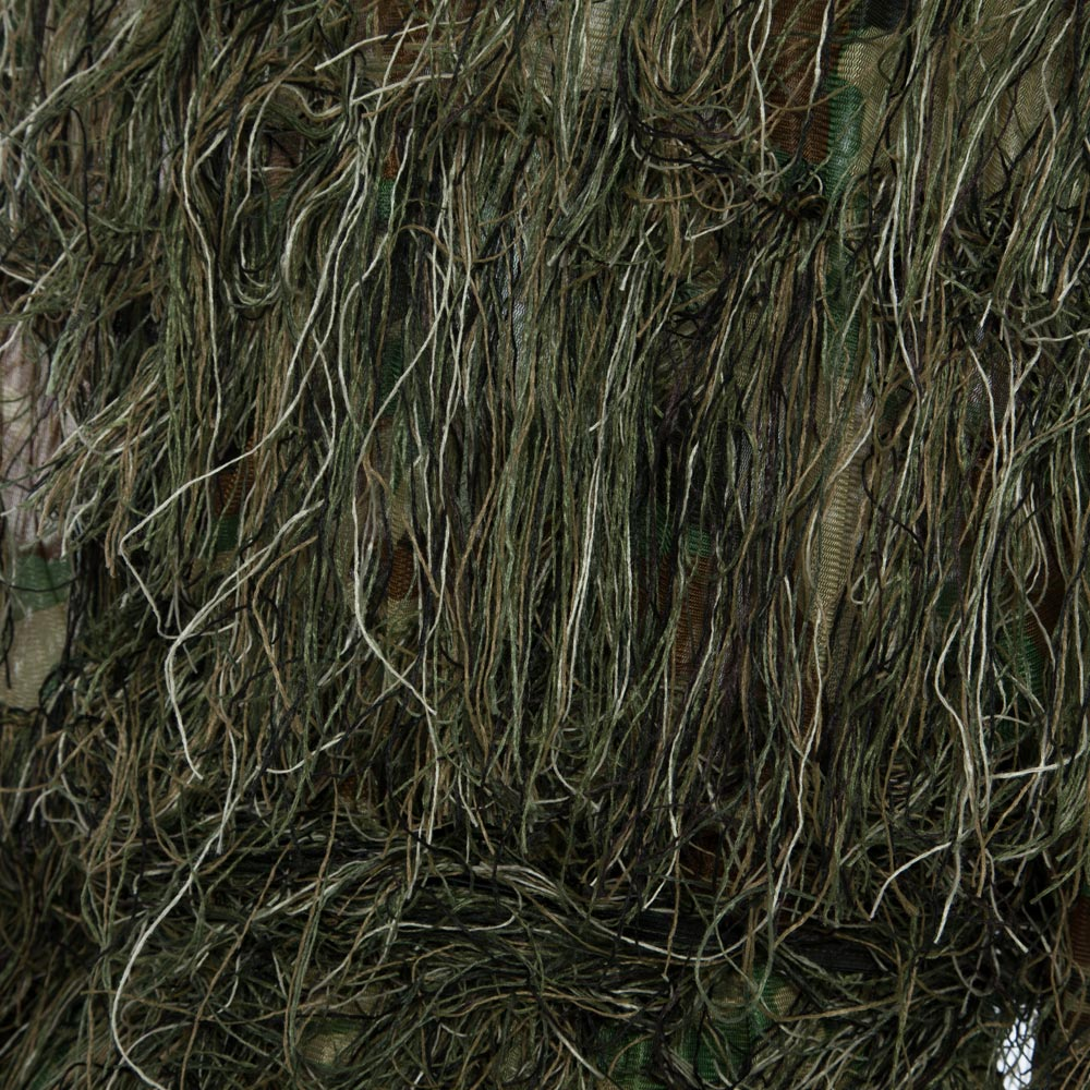 Camouflage JungleHunting Ghillie Suit Set Woodland Birdwatching Poncho 3D Leaves