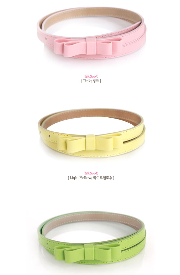 Sweety and Lovely Double Layered Bowknot Embellish Belt pour femme