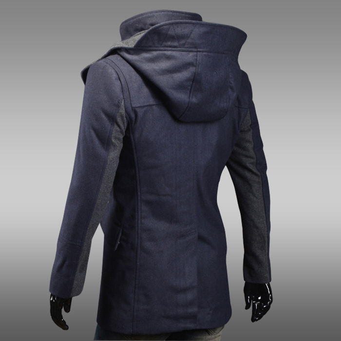 Fashion Style Solid Color Hooded Slimming Long Sleeves Polyester ...