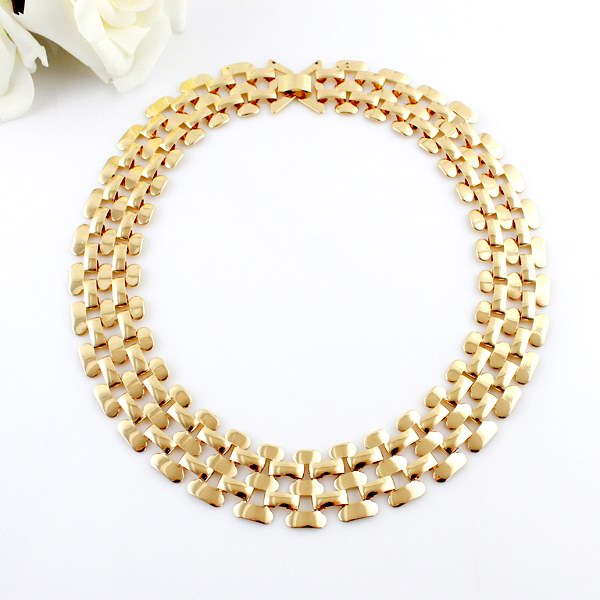 Hollow Out Multilayered Chain Necklace