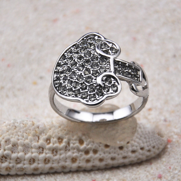 Diamante Cloud Embellished Alloy Ring