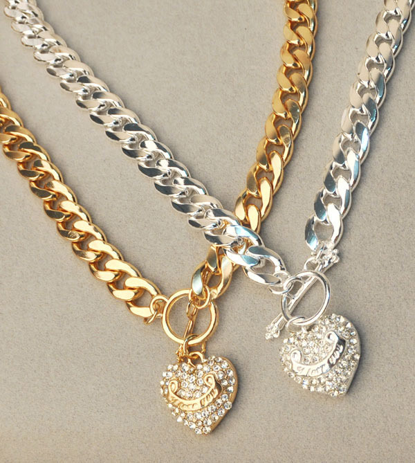 Heart Pendant Alloy Necklace