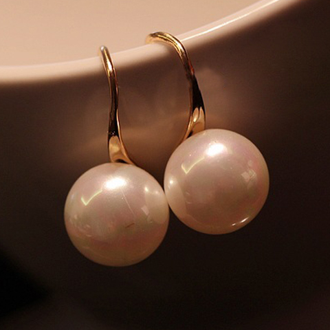 Fake Pearl Drop Earrings