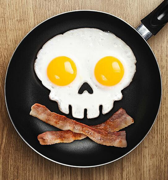 Silicone Skull Shape Style Egg Frying Mould Frying Pancake Mold Breakfast Mould for Kitchen Picnic DIY Helper