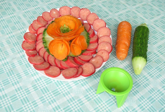 DIY Fruit Cutter Decorator Carved Device for Cooking Decoration