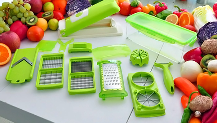 12 Pcs Légumes Fruits Éplucheur Cutter Multi Chopper Trancheuse Fruit Cuisine Outils Set
