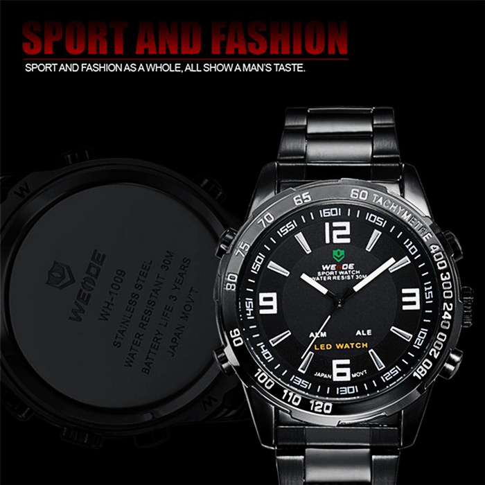 weide wh1009 double movt japan quartz military led watch. Black Bedroom Furniture Sets. Home Design Ideas