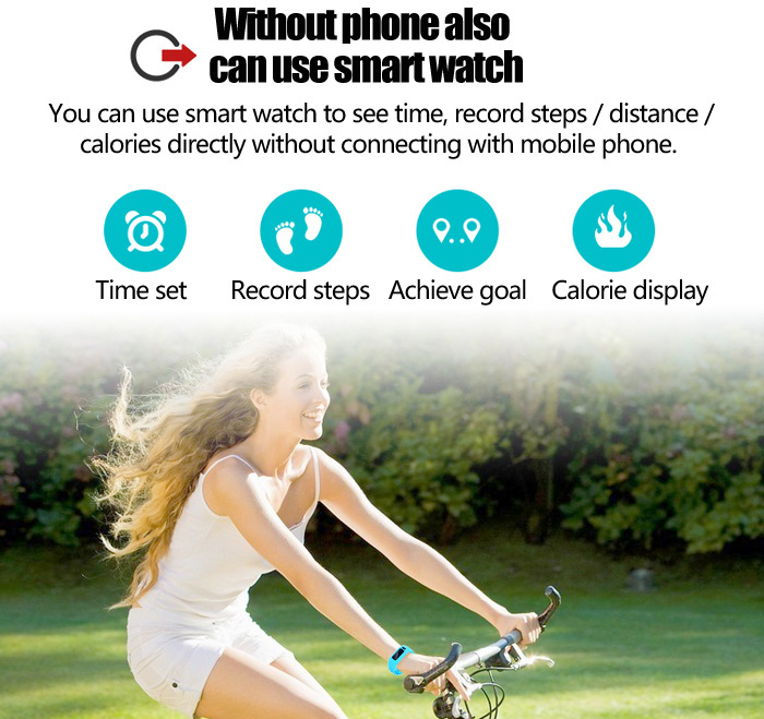 Moving up 2 Smart Watch Bluetooth Wristband for Sports