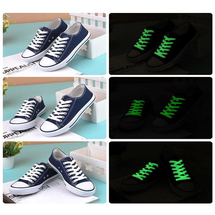 Creative LED Fluorescent Shoelaces Drôle Luminous Yarn Shoes Laces- 80cm