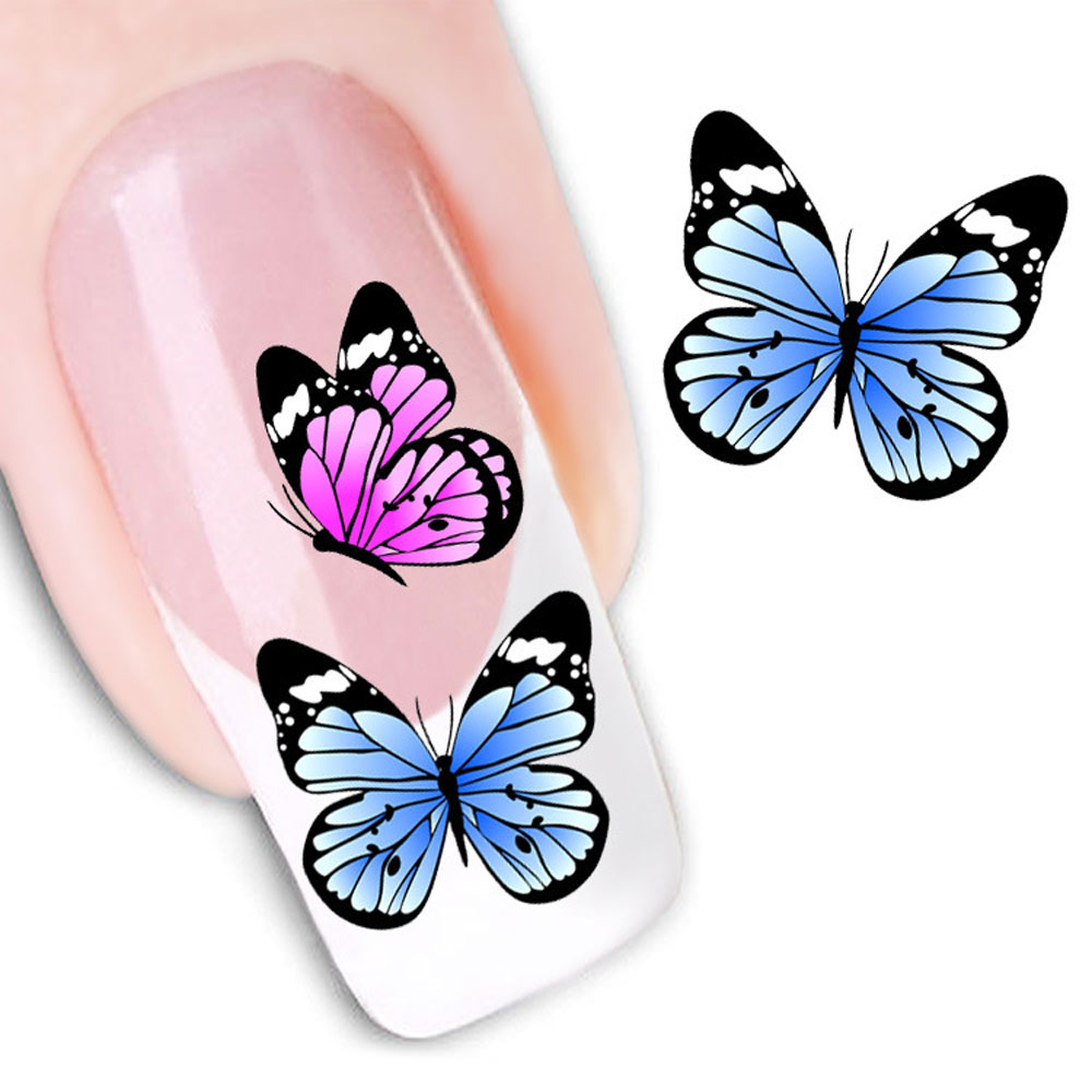 Watermark Butterflies Design Nail Sticker Outils de décoration de manucure