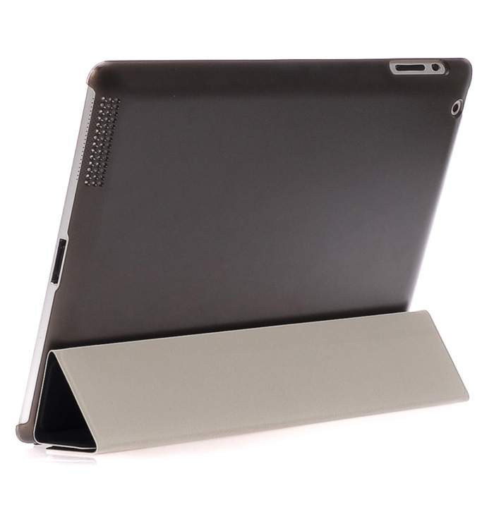 ASLING Housse de protection en cuir pour ordinateur portable de protection Housse en cuir PU Auto Sleep with Stand pour iPad 2/3/4