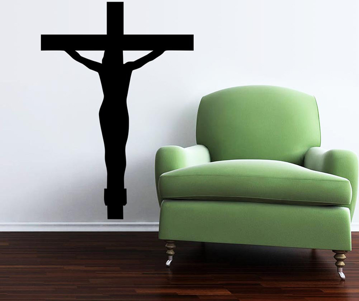 Jesús Cruz Estilo Removible PVC Wall Stickers Resistente al Agua Home Art Decals