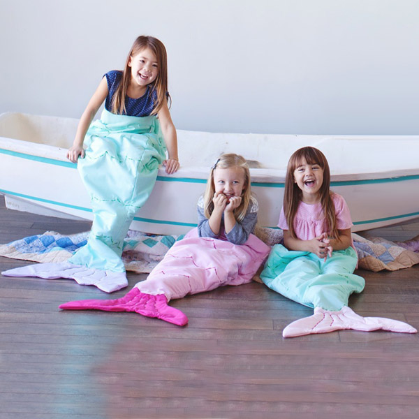 Hot Sale Flannel Double Layer Mermaid Design Kids \ 'Housse de couchage
