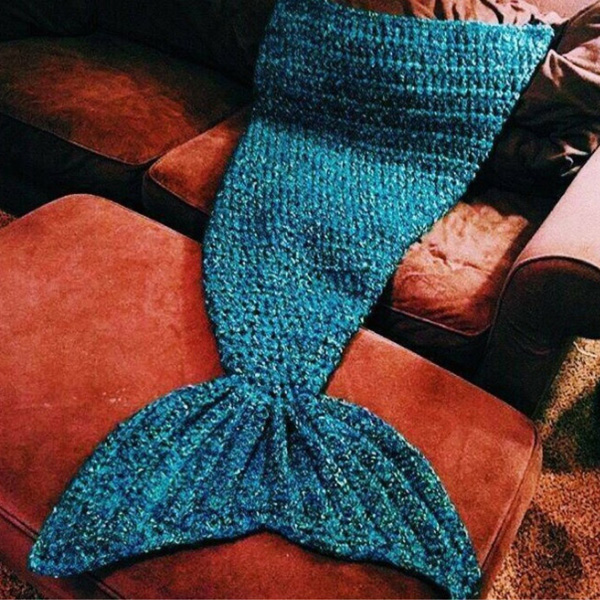 Creative artist playfully redesigns cozy blankets as crocheted artist playfully redesigns cozy mermaid tails knitted blankets and throws dt1010fo