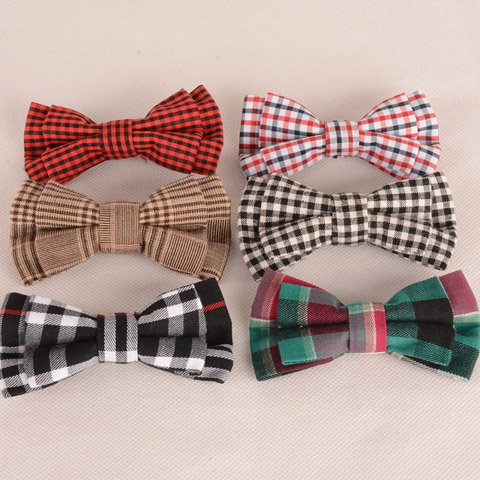 Élégant Motif Tartan Couleur Café Double-Deck Bow Tie For Men