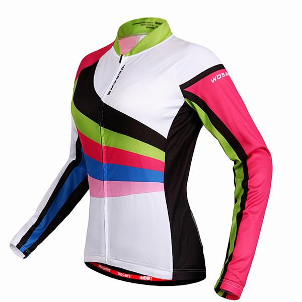 Multi-Colored Jersey respirante manches longues + Pantalons Cyclisme Outdoor Costumes pour les femmes