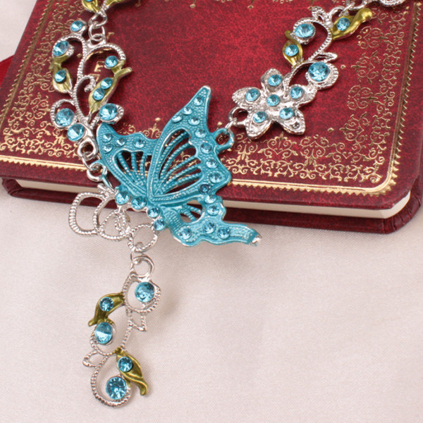 Fake Enamel Butterfly Vine Jewelry Set