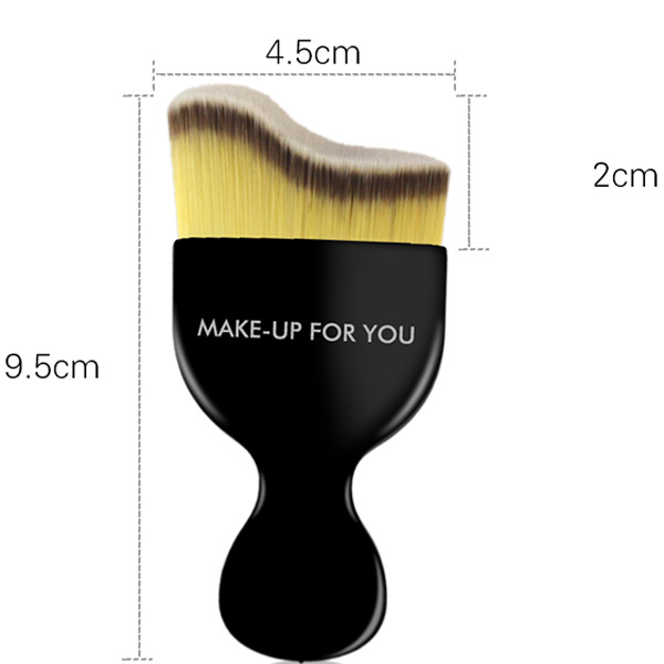 Élégant Curved Fiber Liquid Contour Foundation Brush