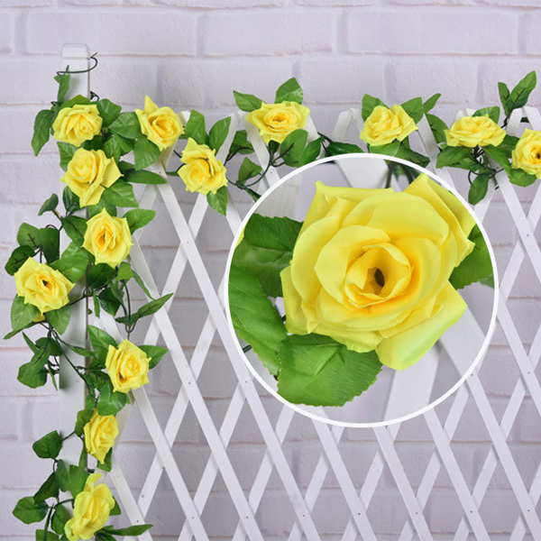 Wedding Party Wall Decor Faux Rose Rattan Fleur artificielle