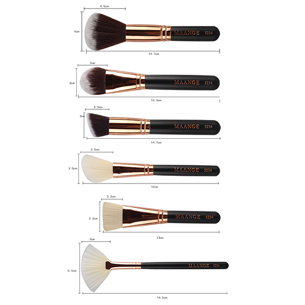 15 Pcs Nylon visage yeux Maquillage Brush Set