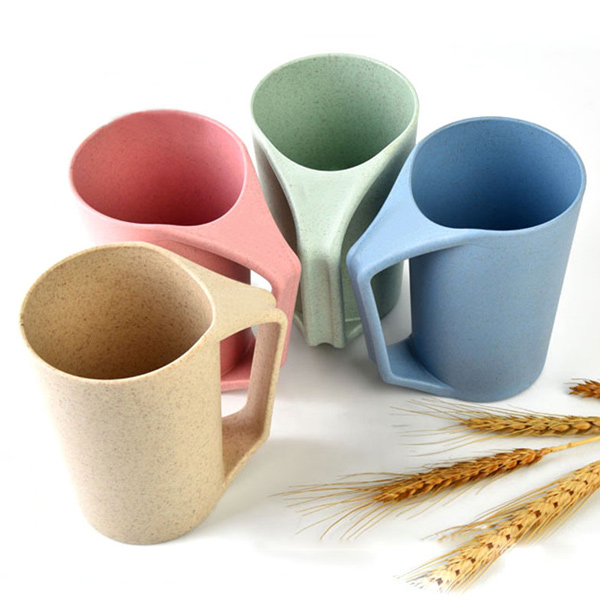 Home Office 450ml de paille de blé alimentaire Grage Tasse