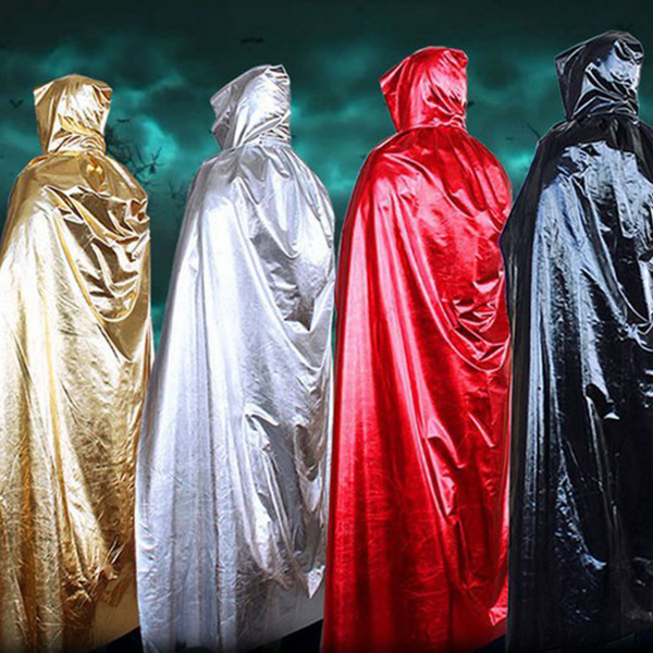 Fancy Dress Hooded Cape cosplay costume Halloween Wicca