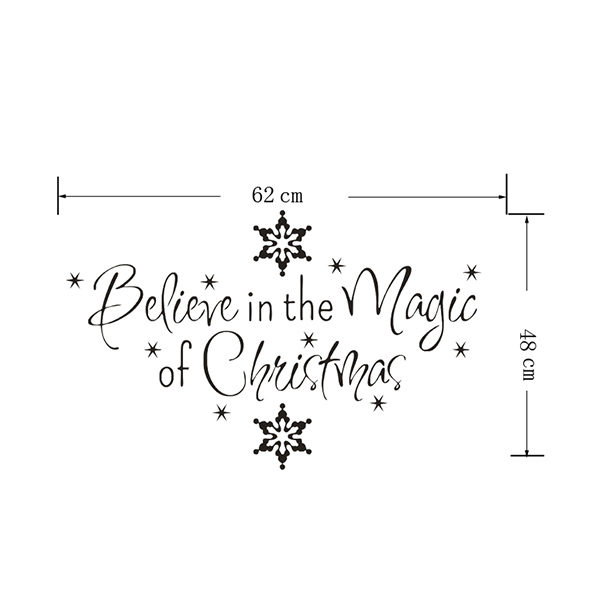Christmas Snows Removeable Wall Sticker