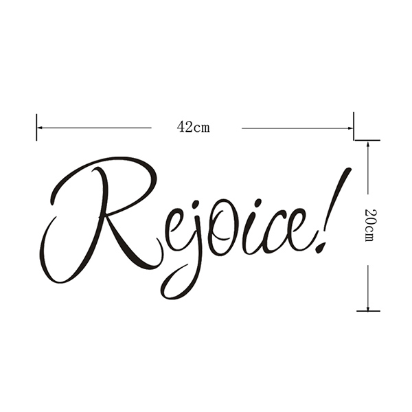 Noël Rejoice Removeable Glass Window Sticker mur