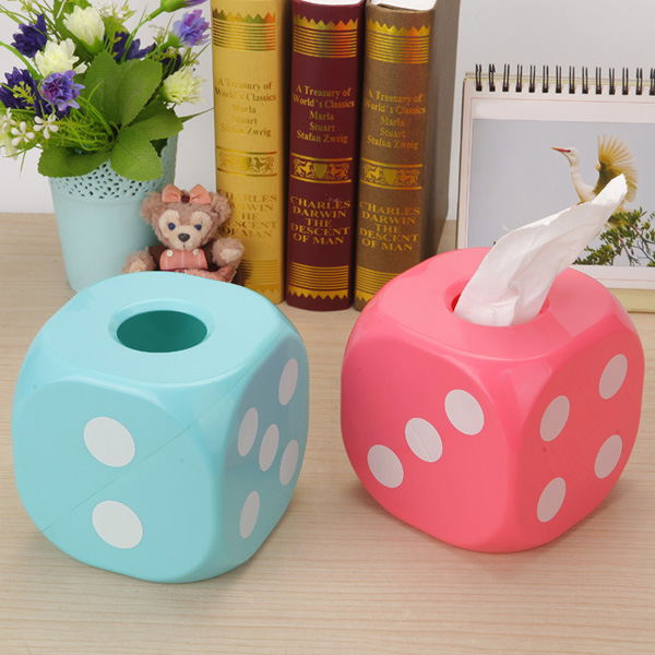 Household Dice Shape Extractive Tissue Storage Box