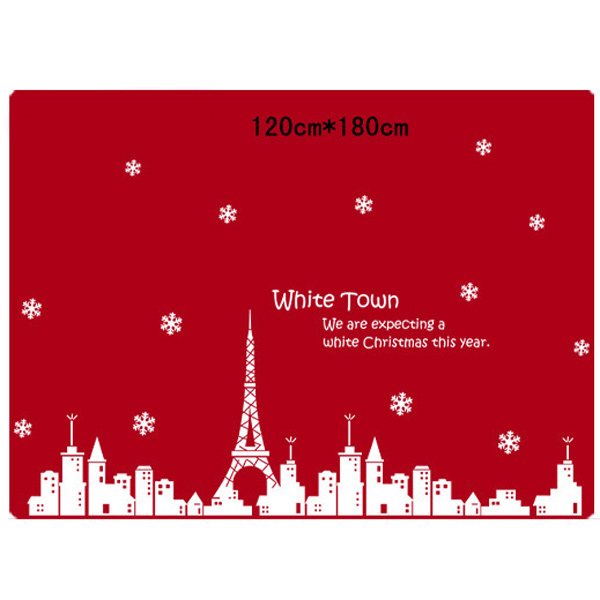Christmas Town Removable Glass Window Wall Stickers