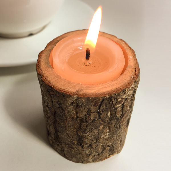 Creative Ecology originale Holder Woody Candle (Sans bougie)