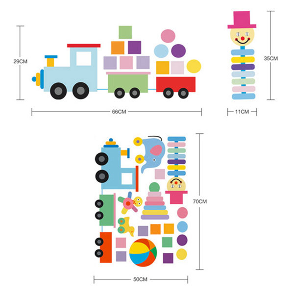 Colorful Toys Removeable Wall Sticker