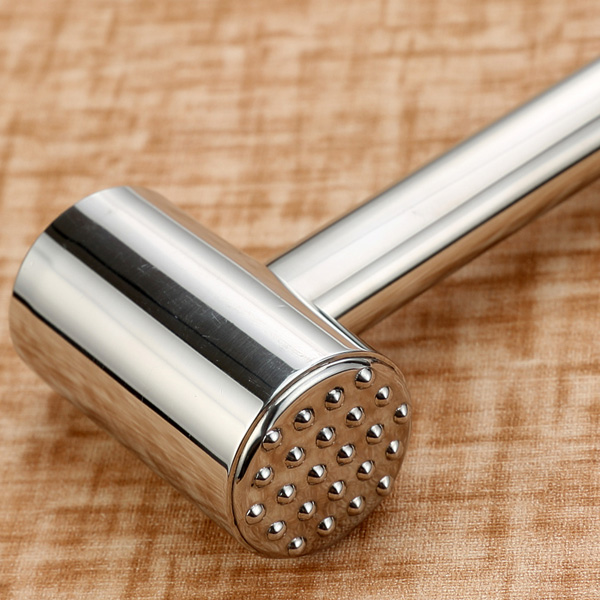 Stainless Steel Two Sides Steak Knock Loose Meat Hammer