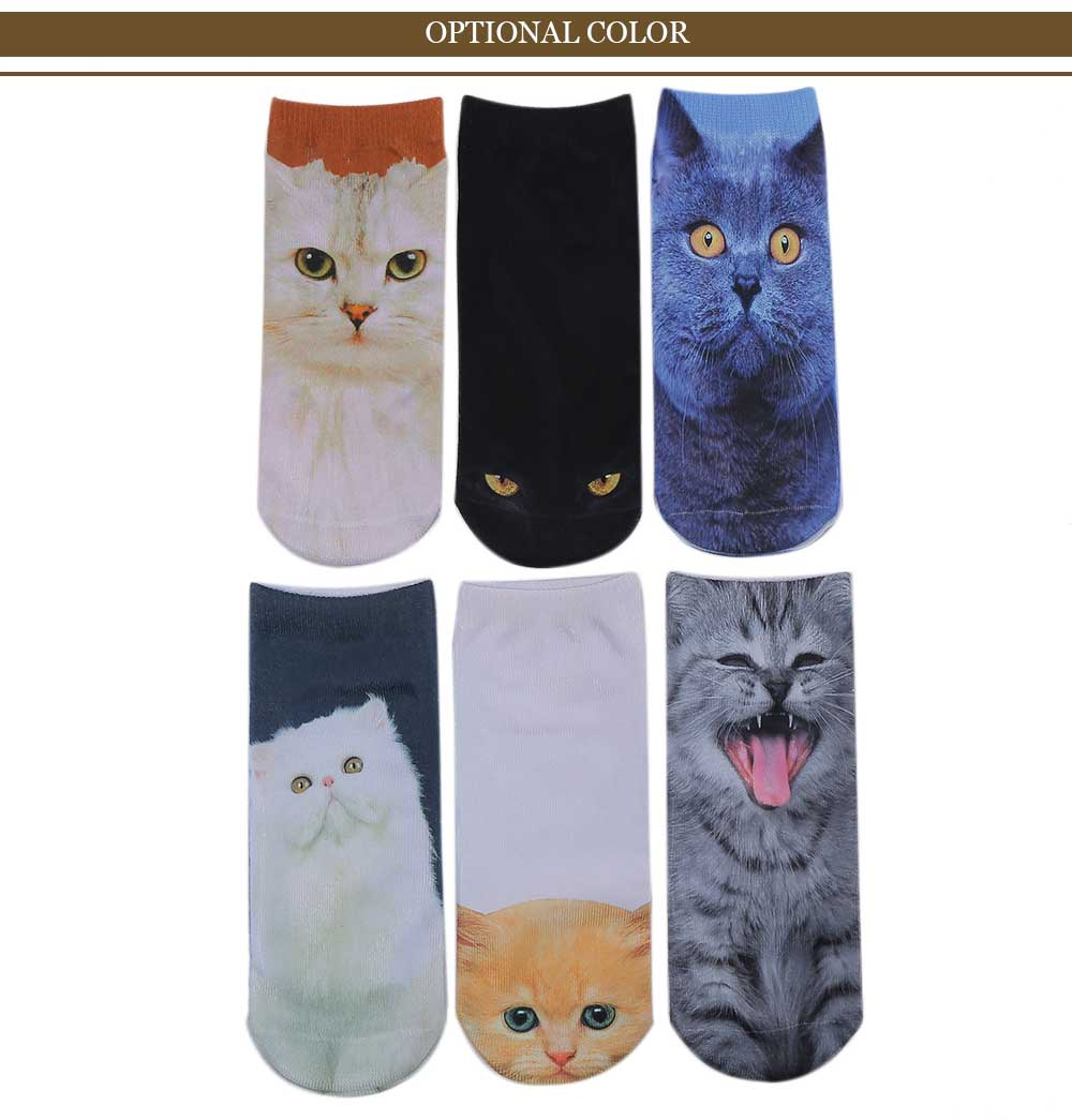 3D Persian Cat Printed Crazy Socks