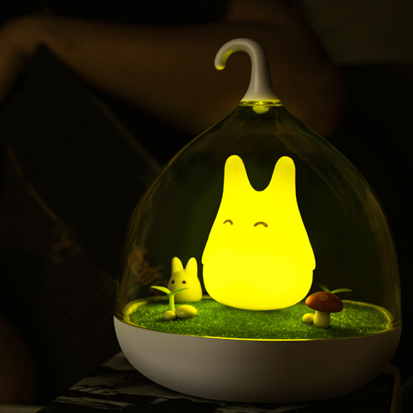 Cartoon LED USB Capteur Rechargeable tactile Birdcage Night Light