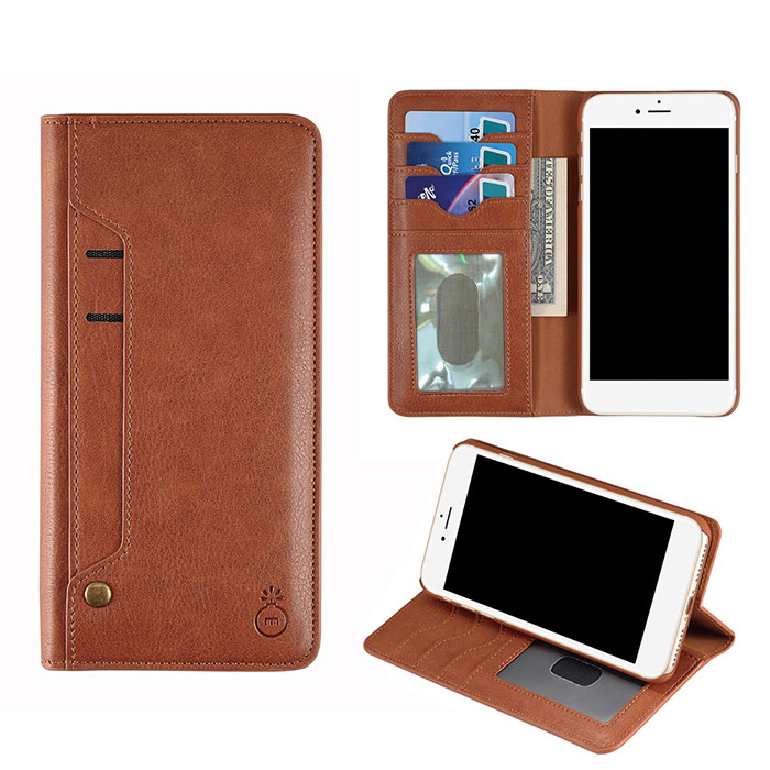 Flip Faux Leather Wallet Stand Holder Case For iPhone