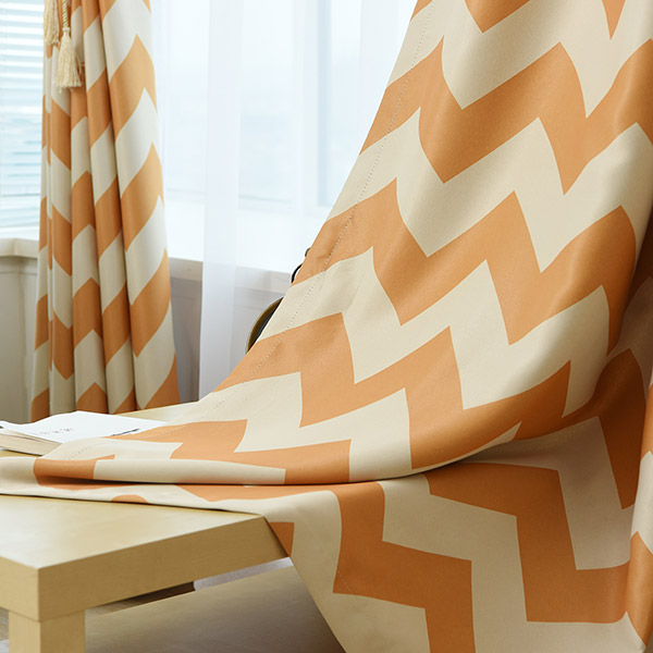 Vague Stripe Plein Soleil-Shading Fenêtre Blackout Curtain