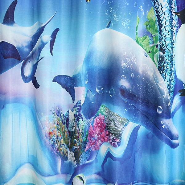 Sea World poinçonnage Screening Blackout Curtain