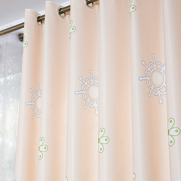 Giraffe Cartoon Shade Blackout Window Curtain