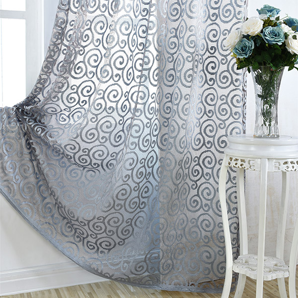 1pcs Jacquard Home Decor Voile Ombrage Rideau